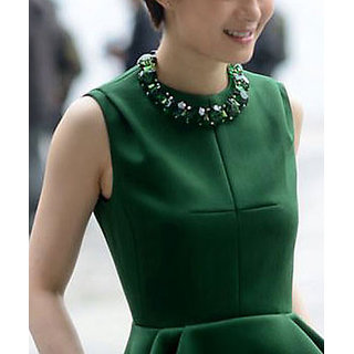 Cinderella Green Statement Necklace