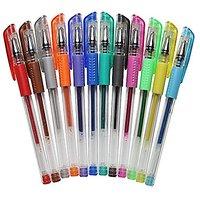 Huhuhero 12 Color Glitter Gel Pens Set - Vibrant Colore