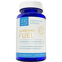 Essential Stacks Vitamin D3 K2 - 2000 IU Vitamin D With