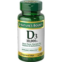 Nature's Bounty Vitamin D3 10,000 IU, 72 Softgels