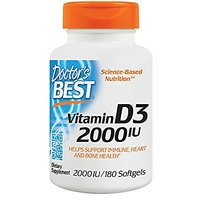 Doctor's Best Best Vitamin D3 2000 IU, Softgel Capsules
