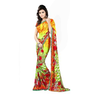 Majestic Silk Multicolor Brocade Self Design Saree Without Blouse