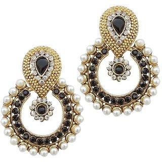 Styylo Jewels Exclusive Golden Black White Earring Set /S 2641