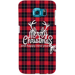 Aart Christmas Themes Designer Luxurious Back Covers For Samsung Galaxy S6 Edge
