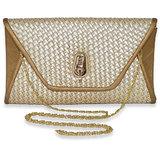 Via Mazzini Cleopatra Gold Envelope Evening Clutch Bag
