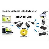 USB Extension Extender Over Cat 5E 6E USB 1.1 Extend Upto 50 Meters