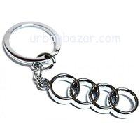 AUDI Stylish Key Chain metallic keychain car bike, key ring keyring
