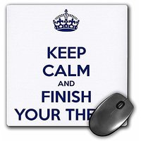 3drose Keep Calm And Finish Your Thesis White And Navy