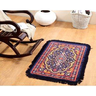 Welhouse India Traditional design Blue colour Prayer Mat