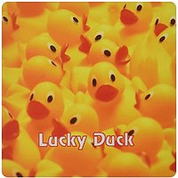3dRose Image Of Lots Of Yellow Ducks With Words Lucky D