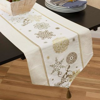 Gold Festive Table Runner