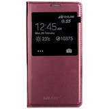 Callmate Window Flip Case For Samsung Galaxy S5 With Free Screen Guard - Cherry