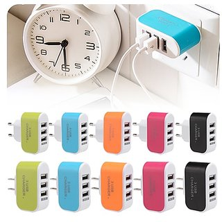3 ports usb travel wall charger