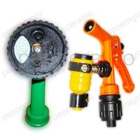 CAR WASH GARDENING TOOLS WATER SPRAY GUN FOUR & ONE MODE SPRAYER GUN ADAPTER