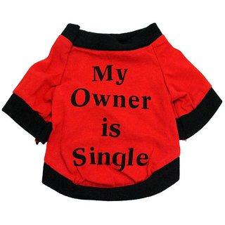 Futaba Puppy  My Owner is Single  Dog shirt - Large