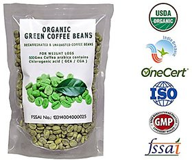 Perennial Lifesciences Organic Decaffeinated Green Coffee Bean 500 Gm For Weight Loss Weight Management