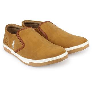 Do Bhai Men's Tan Slip On Casual Shoes