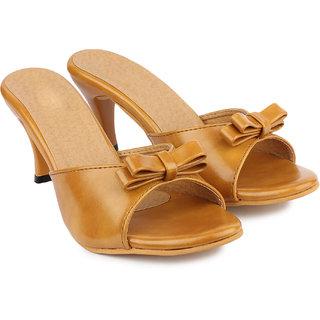 Do Bhai Women's Tan Heels
