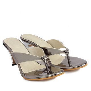 Do Bhai Women's Gray Heels