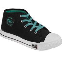 Asian Women's Black & Green Sneakers