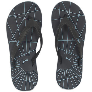 7c842c2d3547 Buy Puma Men s Black and Blue Flip Flops Online - Get 66% Off