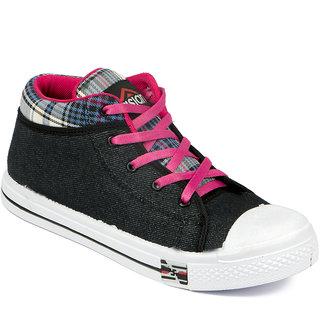 Asian Women's Black & Pink Sneakers