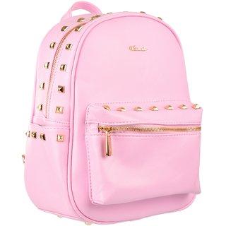 VERSARIO ITALY Women's Backpack Handbag (Pink,VLH23301PIK2)