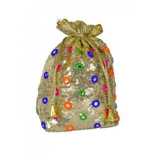 Duchess Handicraft Item Very Beautiful Multi Coloured Potli Bag (000665BG)