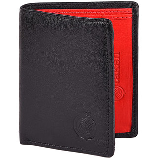 Taksh Black Formal Regular Wallet TW6014