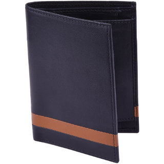 Taksh Black Formal Regular Wallet TW6036