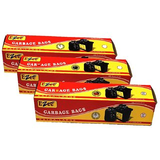 Ezee Garbage Bag Extra Large 30 Inches X 50 Inches Pack Of 3 ( 30 Pieces )