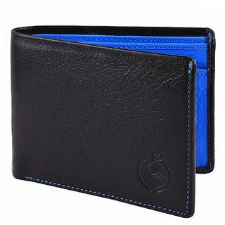 Taksh Black Formal Regular Wallet TW6047
