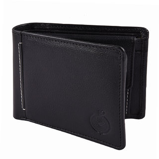 Taksh Black Formal Regular Wallet TW6048