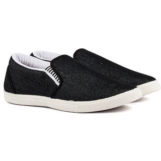 Pan Men Black Slip on Casual Shoes