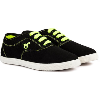 Pan Men Green Lace up Casual Shoes