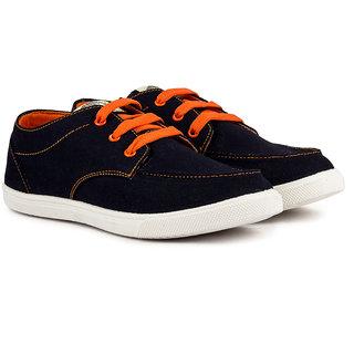 Pan Men Orange Lace up Casual Shoes