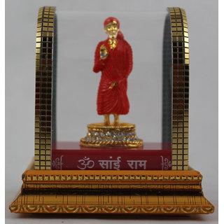 Odishabazaar Saibaba Idol for Car Dashboard Pooja Puja, Statues for Decoration
