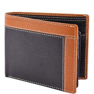 Taksh Black Formal Regular Wallet TW6010