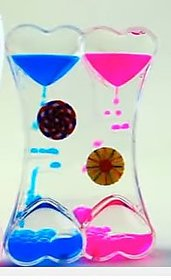 Atorakushon Wheel Liquid Droplet Timer Hourglass Heart Shape Paper Weight - Valentine, Friendship Day, Gift for Girlfrie