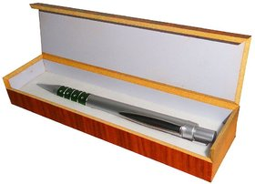 Atorakushon Silver Hard Plastic Royal Pen Signature Corporate Gift Pen With Wooden Finish Box For Elite People