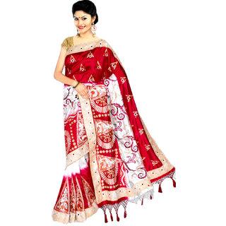 435674413186a Buy Mithcart Multicolor Plain Art Silk Saree Without Blouse Online - Get  17% Off