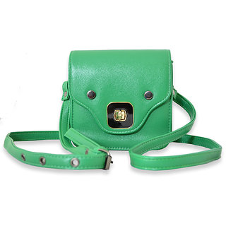 Via Mazzini Antonia Mini Box Green Stashe Sling Bag