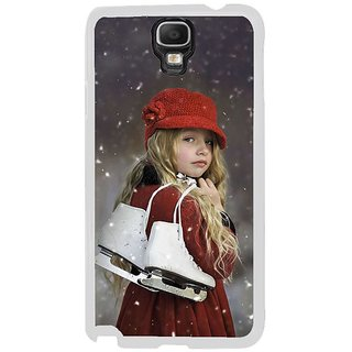 Fuson Designer Phone Back Case Cover Samsung Galaxy Note 3 Neo ( Girl With Her White Skates )