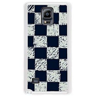 Fuson Designer Phone Back Case Cover Samsung Galaxy Note 4 ( A Graphic Chequered Chess Board )