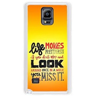 Fuson Designer Phone Back Case Cover Samsung Galaxy Note 4 ( Stop Wait Look Around Go )