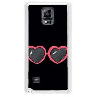 Fuson Designer Phone Back Case Cover Samsung Galaxy Note 4 ( Heart Shaped Eye Wear )