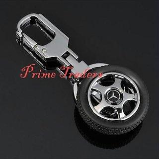 Mercedes Benz Rotary Wheel Tyre Keychain Car Bike Logo Key Chain