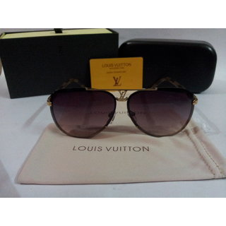 2014 New Louis Vuitton Fog Gold Metal Sunglasses Conspiration Pilote Free Gift