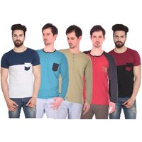 Stylogue Trendy T-Shirts For Men (Pack Of 5)