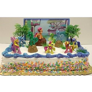 My Little Pony Birthday Cake Topper Featuring 10 Random Charac